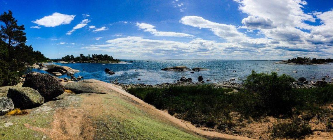 Foto einer Bucht in der schwedischen Ostsee